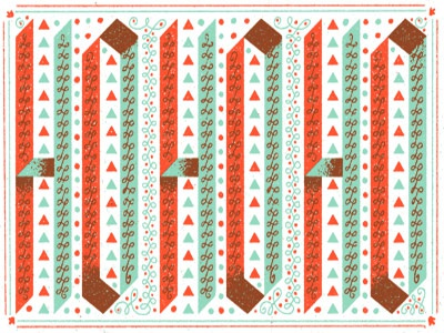 HO HO HO lettering christmas holidays type frogers greeting card