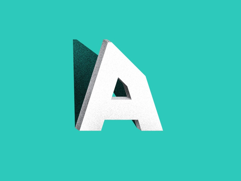 A a letter typography lettering digital vector texture dimentional