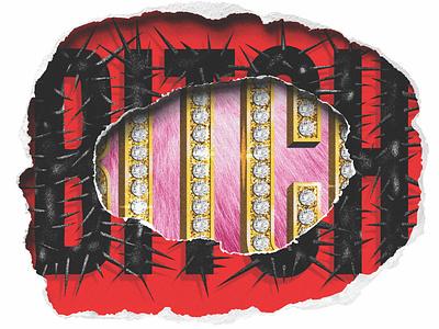BITCH editorial illustration bitch type typography graphic design typographic illustration illustration