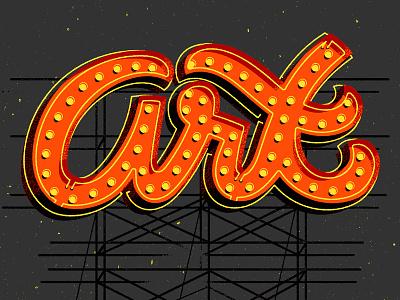 Art sign art lettering bulbs lightbulb vegas typography