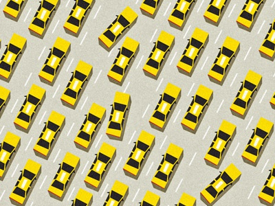 Taxi! illustration angular digital vector taxi nyc