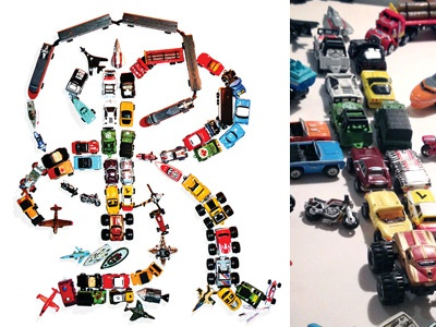 Micro R typography lettering micro machines object bitmap
