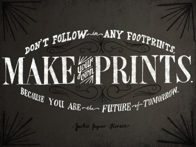 Make your own prints. lettering hand-drawn type typography quote