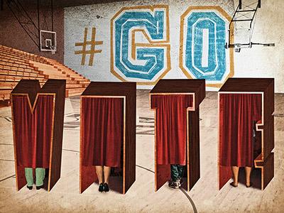 #GoVote govote typography illustration type vote
