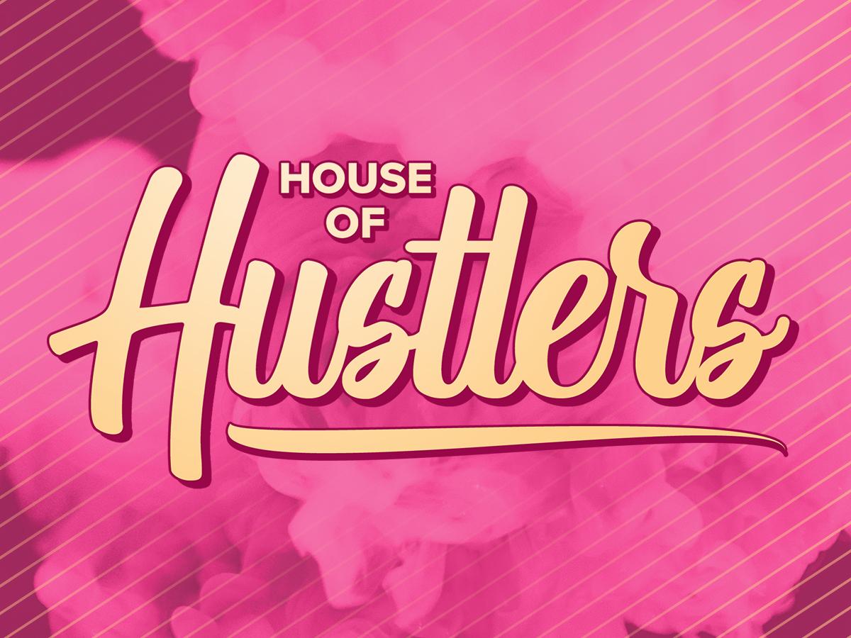 Hustlers branding hustler typography