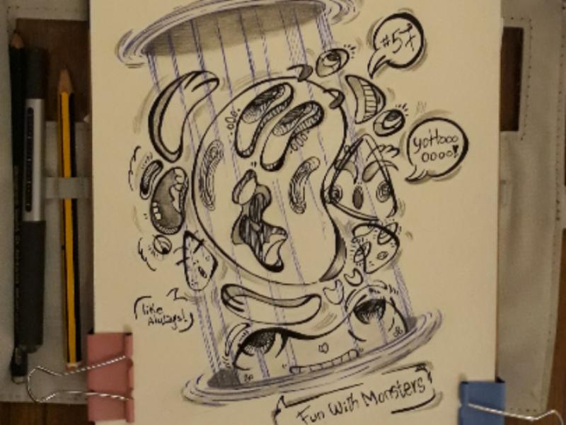Teleportation... graphicdesign doodle draw art illustration