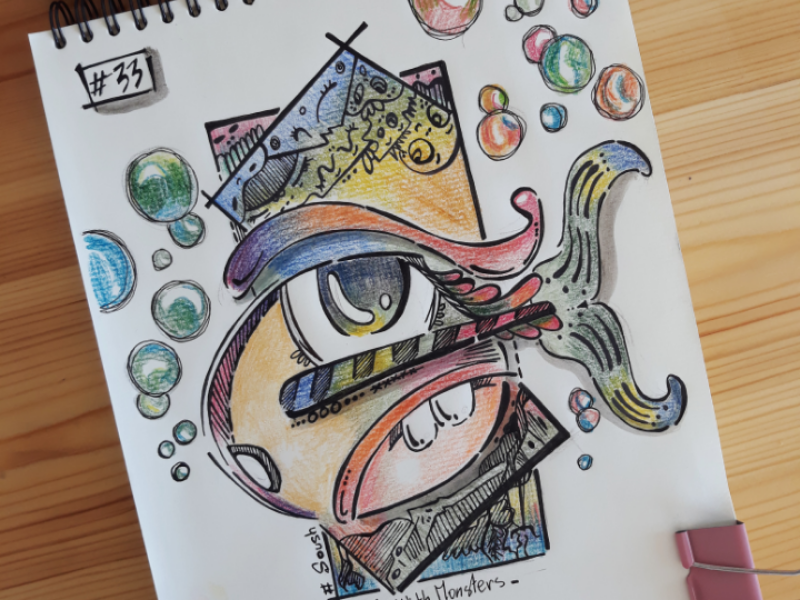 Colorfull fish... graphicdesign drawing doodle art illustration