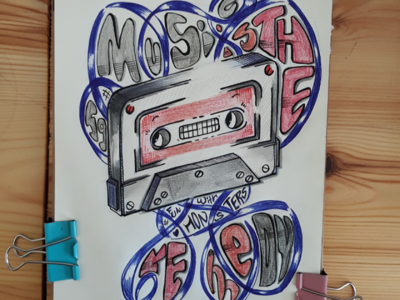 Music is the remedy... graphicdesign doodle art illustration