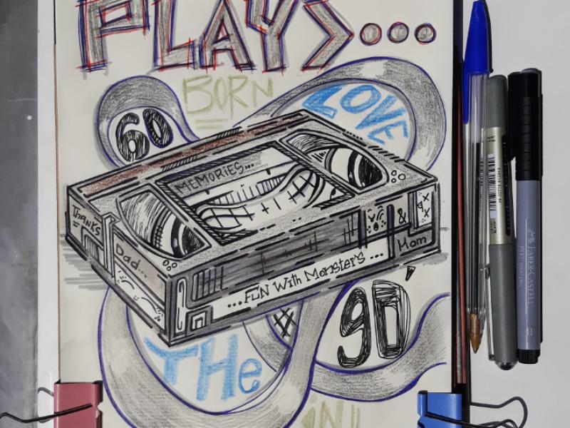 Vhs's memories... drawing art doodle vhs illustration