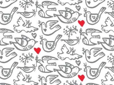 Peace doves wrapping paper