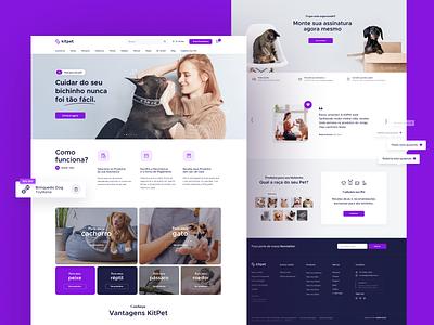 Kitpet Landing Page pet store store ecoomerce cat dog pet shop website landingpage animal pet petshop ui