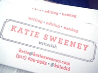 Katie Sweeney business cards