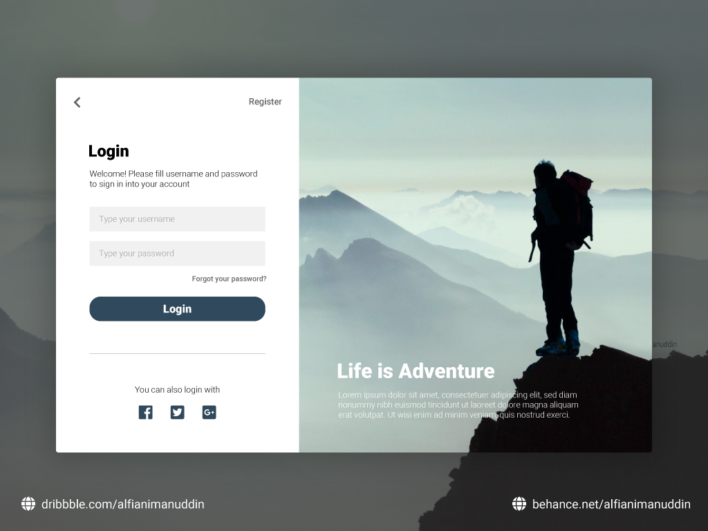 Dribbble - login-1 png by Alfian Imanuddin