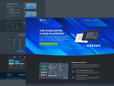 DynaCentri | DevOps Platform-as-a-Service website gaming website hosting ui logo illustration design
