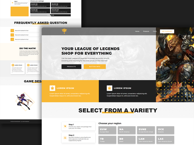 Smurfers - League of Legends Accounts sales account selling gaming ux logo hosting ui illustration design