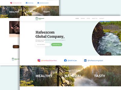 Hafeezcom Global Company account selling beer drink cook website food ui hosting illustration design