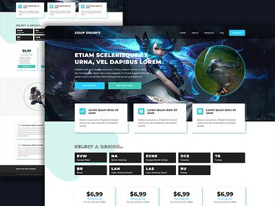 H2 Boosting - Valorant Rank Boosting website game gaming league of legend logo ux ui hosting illustration design