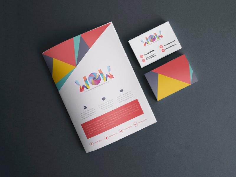 WOW SME Logo, Namecard, Newsletter Design layoutdesign layout media retro cinema cinematic color businesscard namecard newsletter logo design