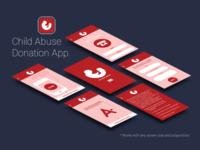 Child Abuse Donation App Design