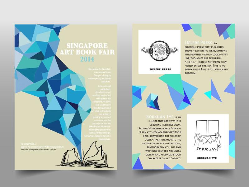 Singapore Art Book Fair 2014 - Newsletter indesign illustrator layout printing newsletter