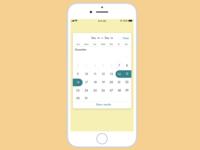 Daily UI :: 038 Calendar