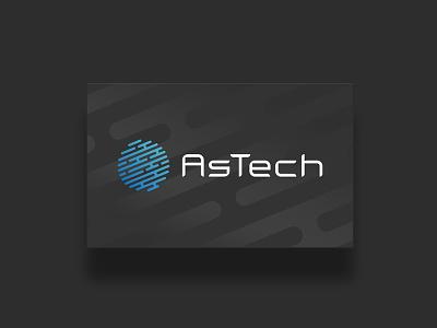 Astech Logo + Visual Identity branding logo tech touch fingerprint security cybersecurity astech