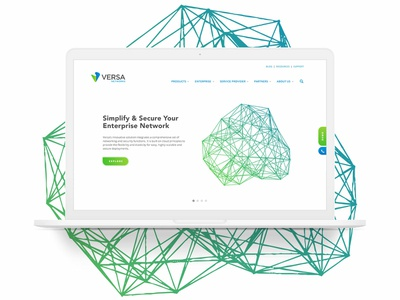 Versa Home Page Design networking network home page web design