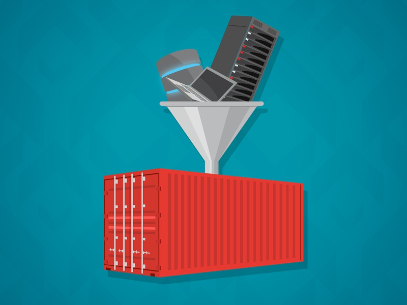 Container Workload Consolidation laptop database server funnel containerization container
