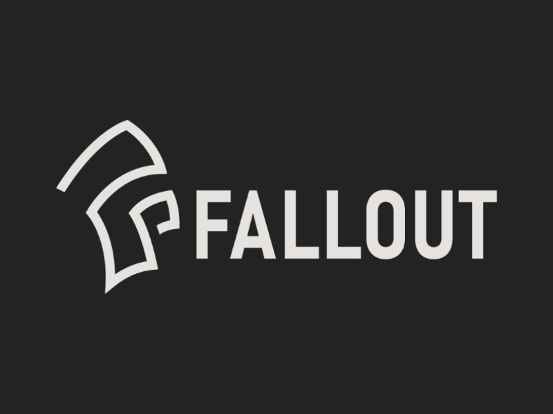 FALLOUT Gaming Group brand logo fortnite gaming visual system graphic design brand development brand design branding visual identity corporate identity ci logodesign logo design logo