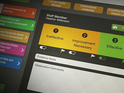 Student Data App app ipad interface uidesign uxdesign design