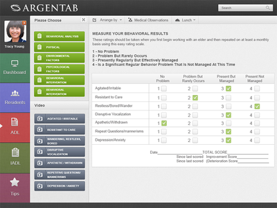 Care Home App Argentab uidesign uxdesign app photoshop design tablet