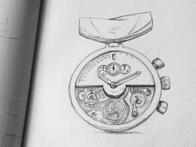 Dribbble sketch medal watchmaking