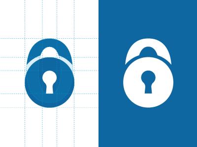 Locabox Fribourg Process logo lock padlock identity vector security process