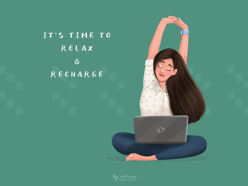 Weekend staypositive stayhome wfh trending quotes illustration women in illustration good vibes girl illustration digital illustration digital art daily drawing characterdesign beautiful art weekend