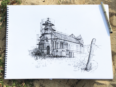 Chapelle Draw sketching sketch pencildrawing pencil illustration first shot drawing draw art