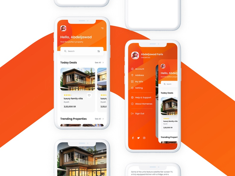 Homenes brand identity online marketing graphic design branding design app brand logo ui ux