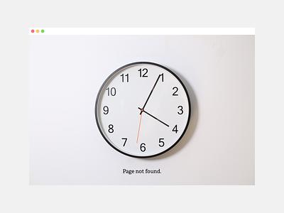 4:04 (Weekly Warmup) website ux ui dribbbleweeklywarmup 404 error page 404