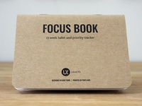 New Product: Focus Book print product tasks to-do ux kits journal design habits notebook