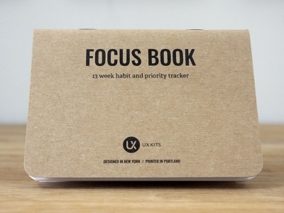 New Product: Focus Book ux design print product tasks to-do journal design habits notebook