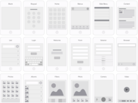 Mobile flowchart web screens