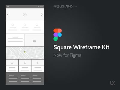 Square Wireframe Kit for Figma prototype mockup download deliverable wireframes ui kit ux kits figma wireframe
