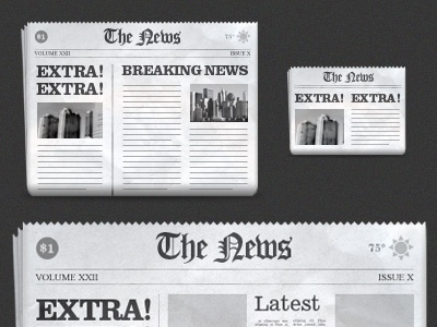 Newspapers 3up