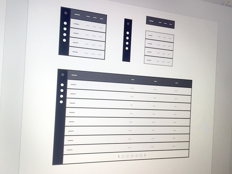 Tables for Square sketch software kit tabular tables wireframes wireframe ui ux ux kits
