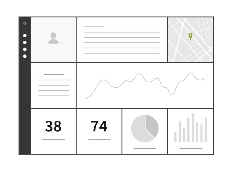 Squares Dashboard flat mockup ui kit software ux kits kit ux ui wireframe dashboard