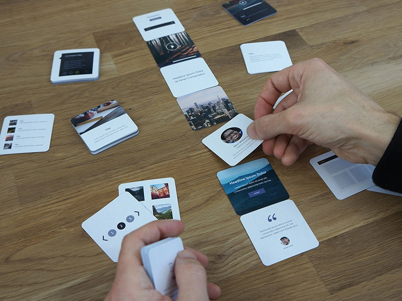 Wireframe Deck, Responsive ui design ux design products card sorting layout mobile website ux kits responsive deck of cards wireframe