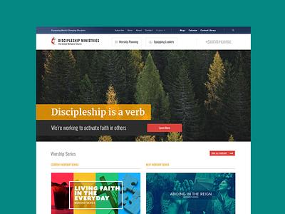 Discipleship Ministries Site Launch website design web design ux