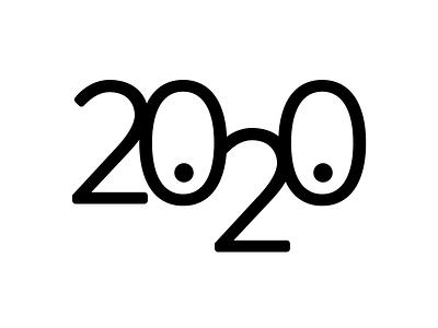 2020, 20/20 branding logo 2020