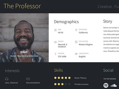 Modular Persona Kit in Progress uxdesign sketch story template persona ux design ux kits ux
