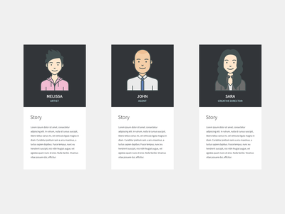 Simple Personas cards user story user persona template sketch ux ux design ux kits persona
