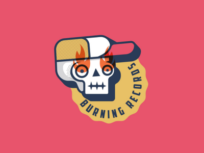 Burning Records logo logodesign design